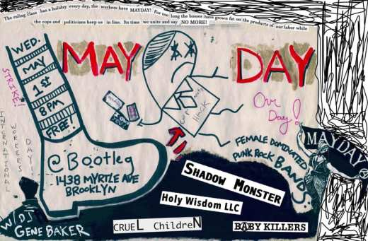 May Day show flyer